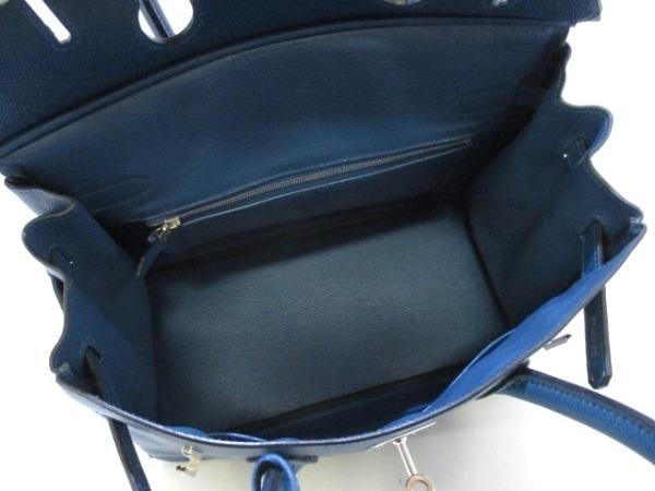 エルメス ハンドバッグ バーキン30 ブルータラサ シルバー金具 2
