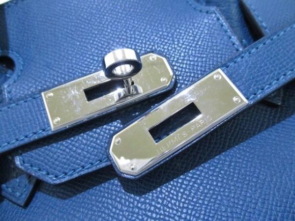 エルメス ハンドバッグ バーキン30 ブルータラサ シルバー金具 3