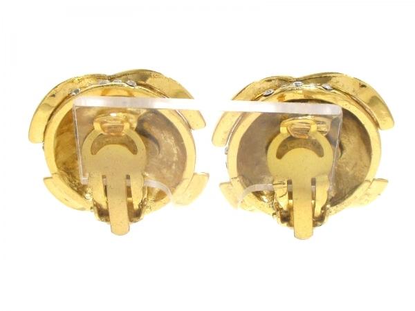 CHANEL(シャネル) イヤリング 金属素材×ラインストーン ゴールド 2