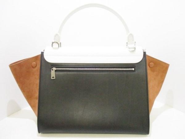 CELINE(セリーヌ) ハンドバッグ美品  トラペーズ 白×黒×ブラウン 3