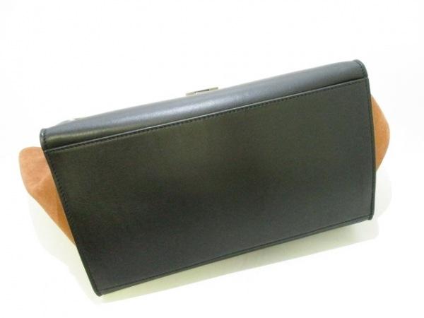 CELINE(セリーヌ) ハンドバッグ美品  トラペーズ 白×黒×ブラウン 4