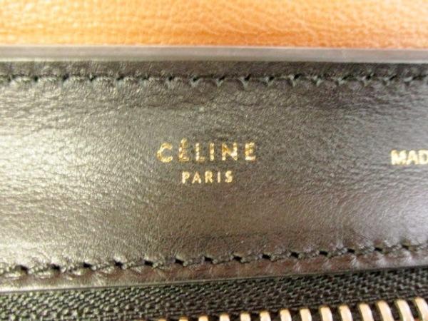 CELINE(セリーヌ) ハンドバッグ美品  トラペーズ 白×黒×ブラウン 6