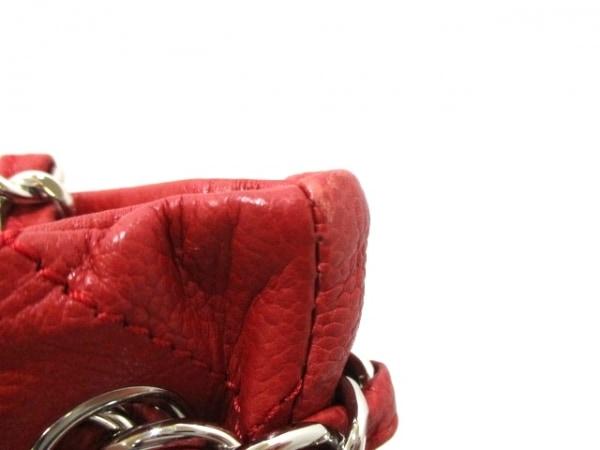 CHANEL(シャネル) トートバッグ マトラッセ レッド キャビアスキン 8
