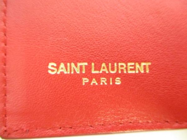 サンローランパリ 3つ折り財布美品  クラシック Y 328599 レッド 5