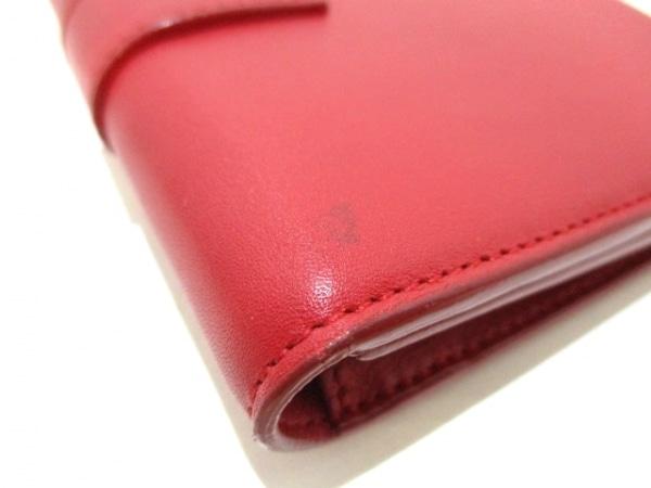 サンローランパリ 3つ折り財布美品  クラシック Y 328599 レッド 6