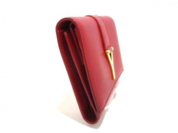 サンローランパリ 3つ折り財布美品  クラシック Y 328599 レッド 7