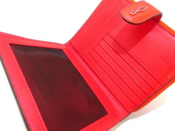 クリスチャンルブタン 2つ折り財布美品  パネトーネ/スパイク レザー 3