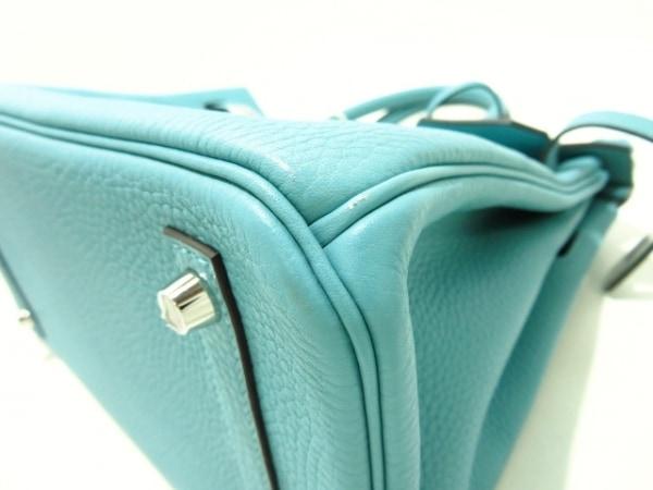 HERMES(エルメス) ハンドバッグ美品  バーキン30 ブルーアトール 6