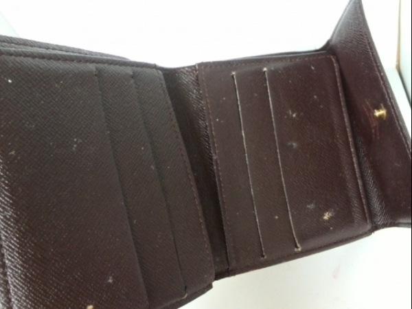 ルイヴィトン Wホック財布 ダミエ N61652 エベヌ ダミエキャンバス 3