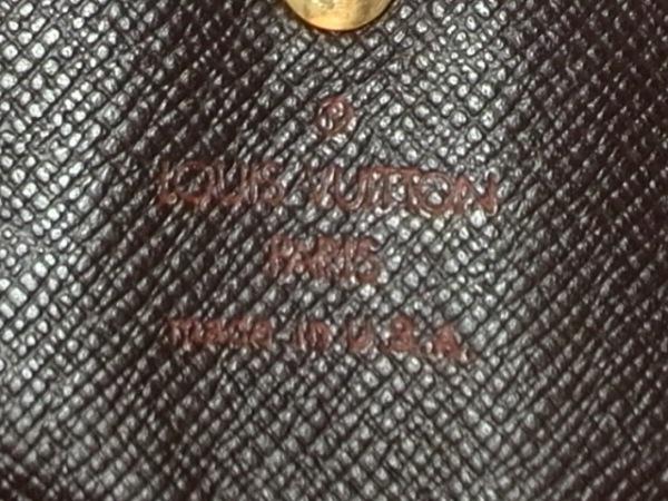 ルイヴィトン Wホック財布 ダミエ N61652 エベヌ ダミエキャンバス 5