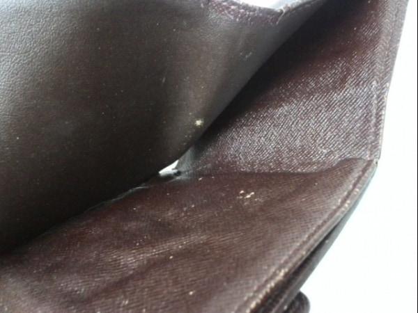 ルイヴィトン Wホック財布 ダミエ N61652 エベヌ ダミエキャンバス 6