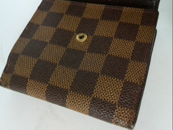 ルイヴィトン Wホック財布 ダミエ N61652 エベヌ ダミエキャンバス 7