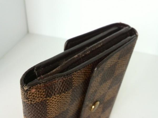 ルイヴィトン Wホック財布 ダミエ N61652 エベヌ ダミエキャンバス 8