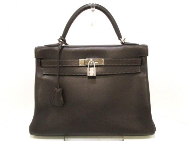 エルメス ハンドバッグ ケリー32 ショコラ シルバー金具/内縫い 0