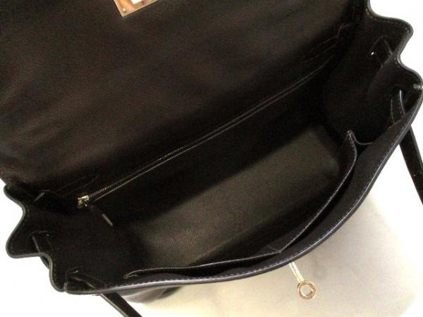エルメス ハンドバッグ ケリー32 ショコラ シルバー金具/内縫い 2