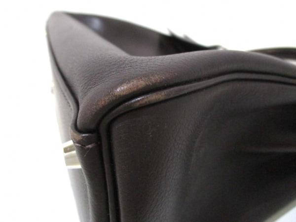 エルメス ハンドバッグ ケリー32 ショコラ シルバー金具/内縫い 6