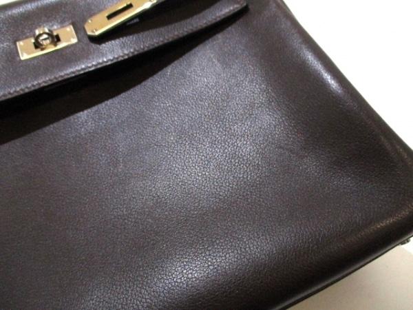 エルメス ハンドバッグ ケリー32 ショコラ シルバー金具/内縫い 7