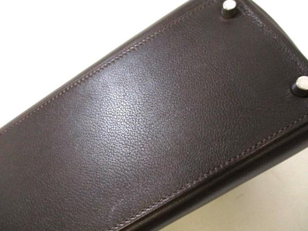エルメス ハンドバッグ ケリー32 ショコラ シルバー金具/内縫い 8
