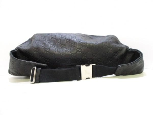 GUCCI(グッチ) ウエストポーチ シマライン 246409 黒 ボディバッグ 3