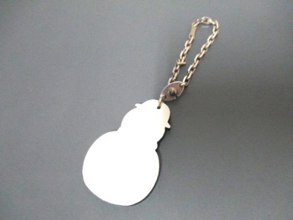 エルメス キーホルダー(チャーム)美品  - 白×黒×レッド スノーマン 2