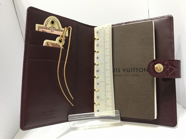 ルイヴィトン 手帳 モノグラムヴェルニ美品  アジェンダPM R21072 3