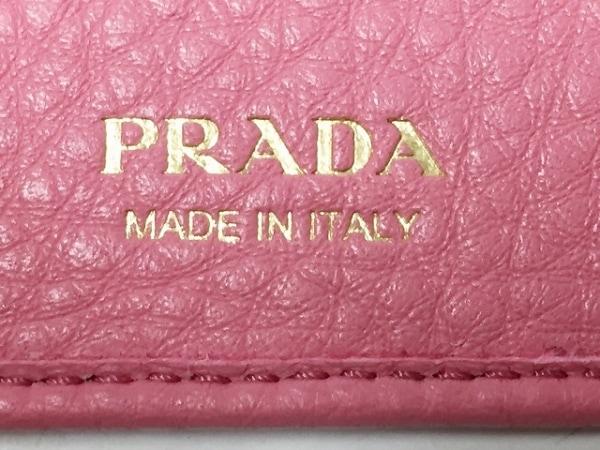 PRADA(プラダ) キーケース美品  - 1PG222 ピンク 6連フック レザー 5