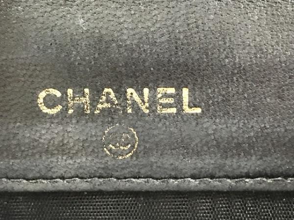 CHANEL(シャネル) Wホック財布 キャビアスキン 黒 キャビアスキン 5