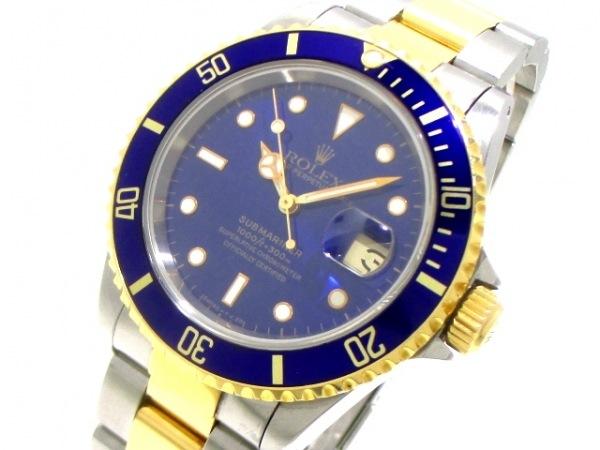 ロレックス 腕時計美品  サブマリーナデイト 16613 メンズ ブルー 0