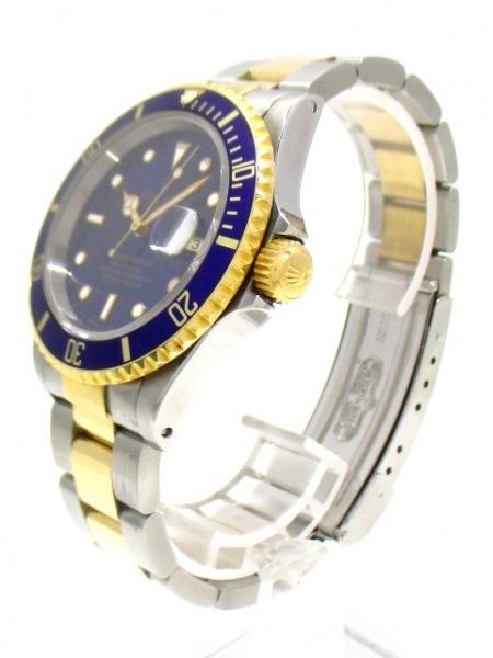 ロレックス 腕時計美品  サブマリーナデイト 16613 メンズ ブルー 2