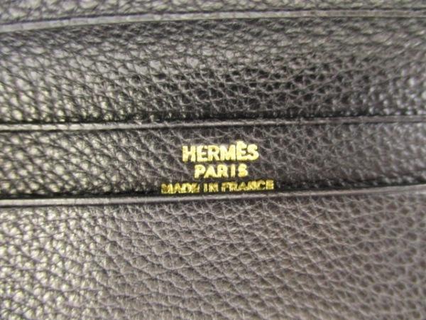 HERMES(エルメス) 札入れ美品  MC2フレミング 黒 トゴ 5