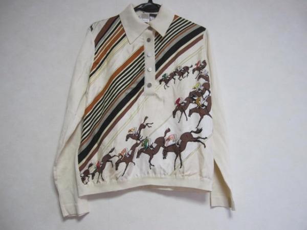 HERMES(エルメス) 長袖ポロシャツ サイズ42 L レディース 0