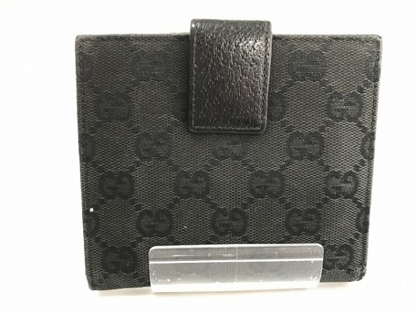 GUCCI(グッチ) Wホック財布 GG柄 120922 黒 スタッズ 2