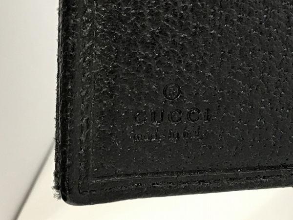 GUCCI(グッチ) Wホック財布 GG柄 120922 黒 スタッズ 5