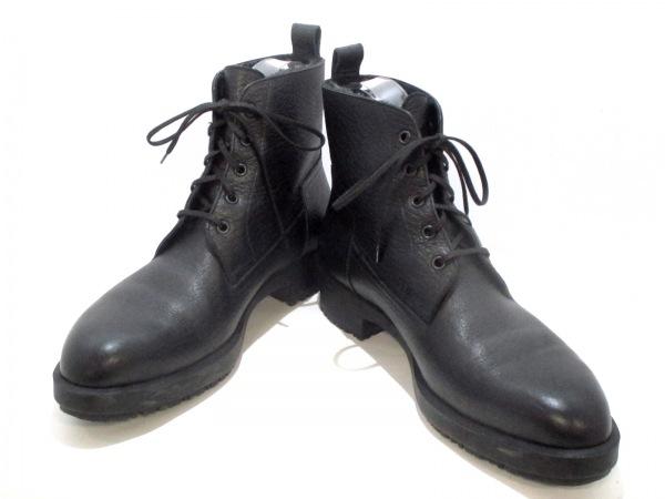 HERMES(エルメス) ショートブーツ メンズ美品  黒 ムートン 0