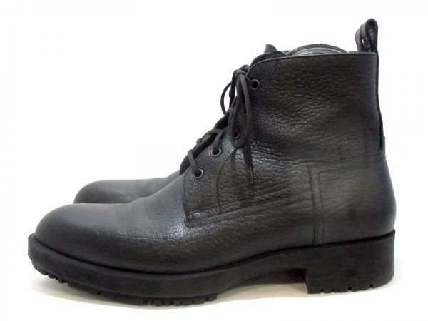HERMES(エルメス) ショートブーツ メンズ美品  黒 ムートン 2