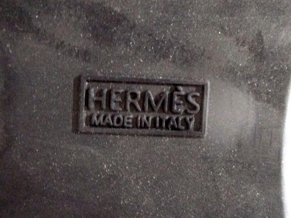 HERMES(エルメス) ショートブーツ メンズ美品  黒 ムートン 5