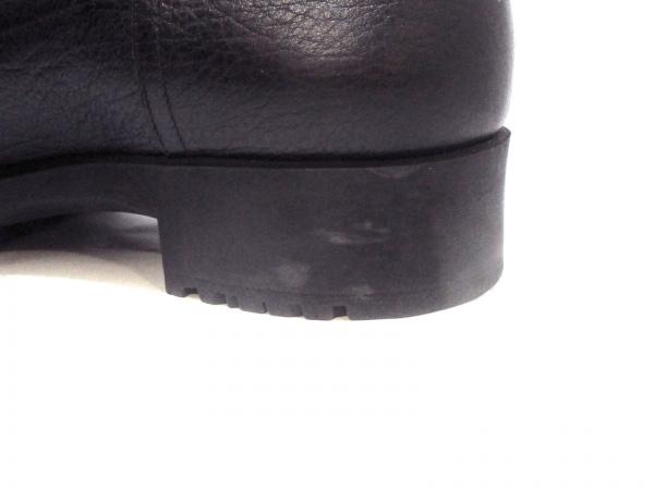 HERMES(エルメス) ショートブーツ メンズ美品  黒 ムートン 6