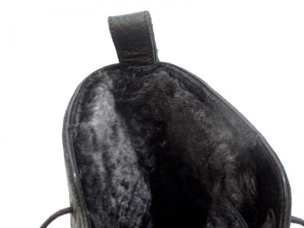 HERMES(エルメス) ショートブーツ メンズ美品  黒 ムートン 8