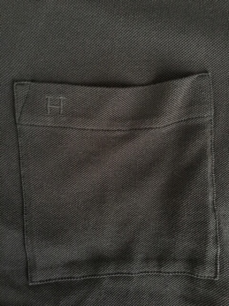 HERMES(エルメス) 半袖ポロシャツ サイズM メンズ ダークグレー×白 5