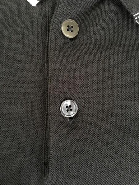 HERMES(エルメス) 半袖ポロシャツ サイズM メンズ ダークグレー×白 6