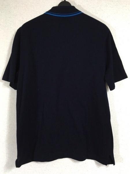エルメス 半袖ポロシャツ サイズM メンズ ダークネイビー×ブルー 2