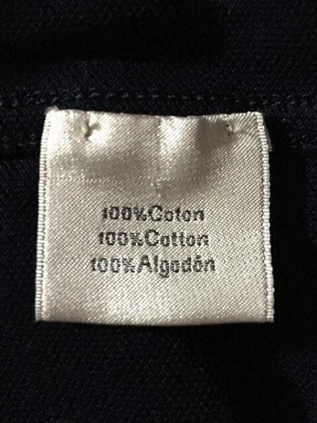 エルメス 半袖ポロシャツ サイズM メンズ ダークネイビー×ブルー 4