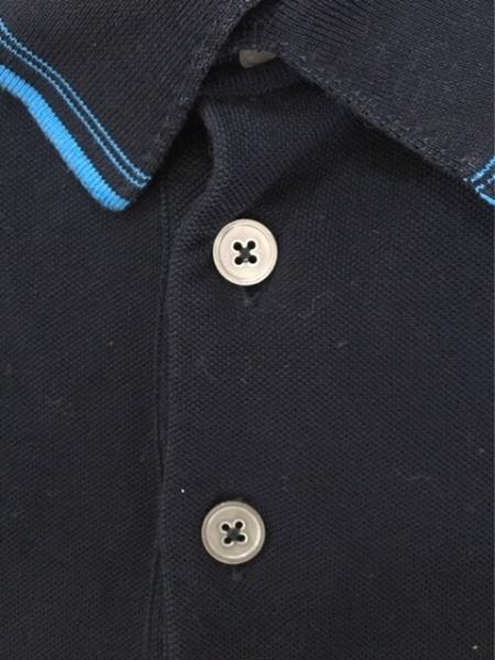 エルメス 半袖ポロシャツ サイズM メンズ ダークネイビー×ブルー 6