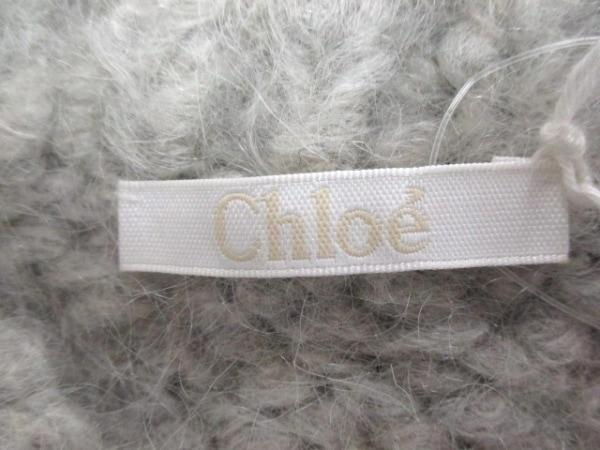 クロエ 長袖セーター サイズS レディース新品同様  ライトグレー 3
