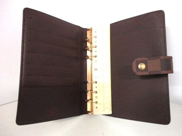 ルイヴィトン 手帳 ダミエ美品  アジェンダMM R20701 エベヌ 3