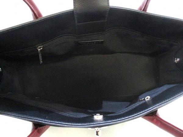 シャネル トートバッグ エグゼクティブライン A67282 黒×ボルドー 5