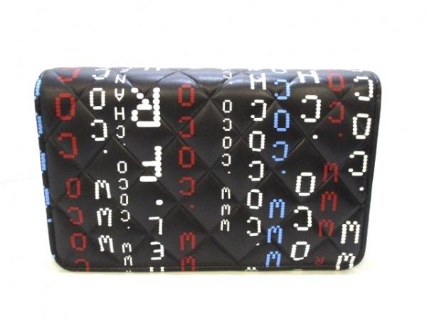 CHANEL(シャネル) 財布美品  マトラッセ 黒×マルチ ラムスキン 2