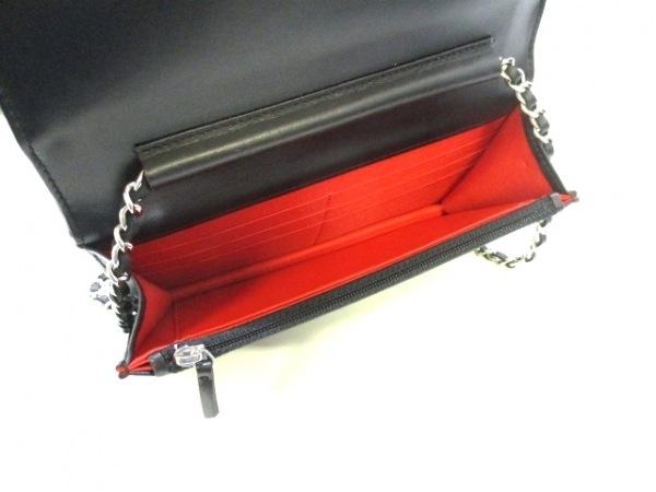 CHANEL(シャネル) 財布美品  マトラッセ 黒×マルチ ラムスキン 3
