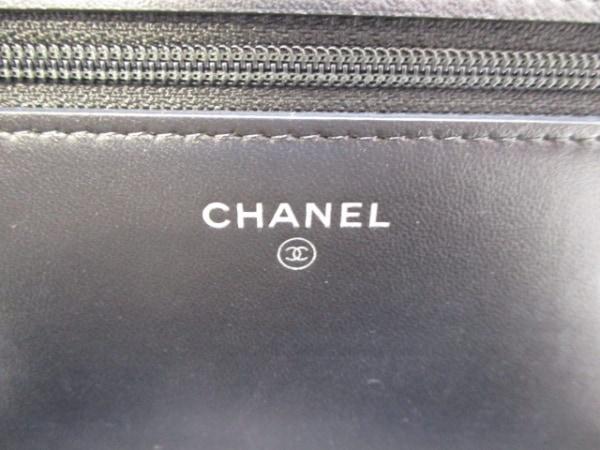CHANEL(シャネル) 財布美品  マトラッセ 黒×マルチ ラムスキン 4