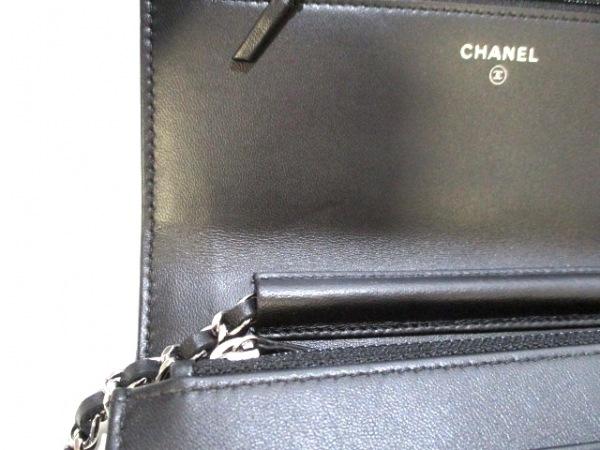 CHANEL(シャネル) 財布美品  マトラッセ 黒×マルチ ラムスキン 6